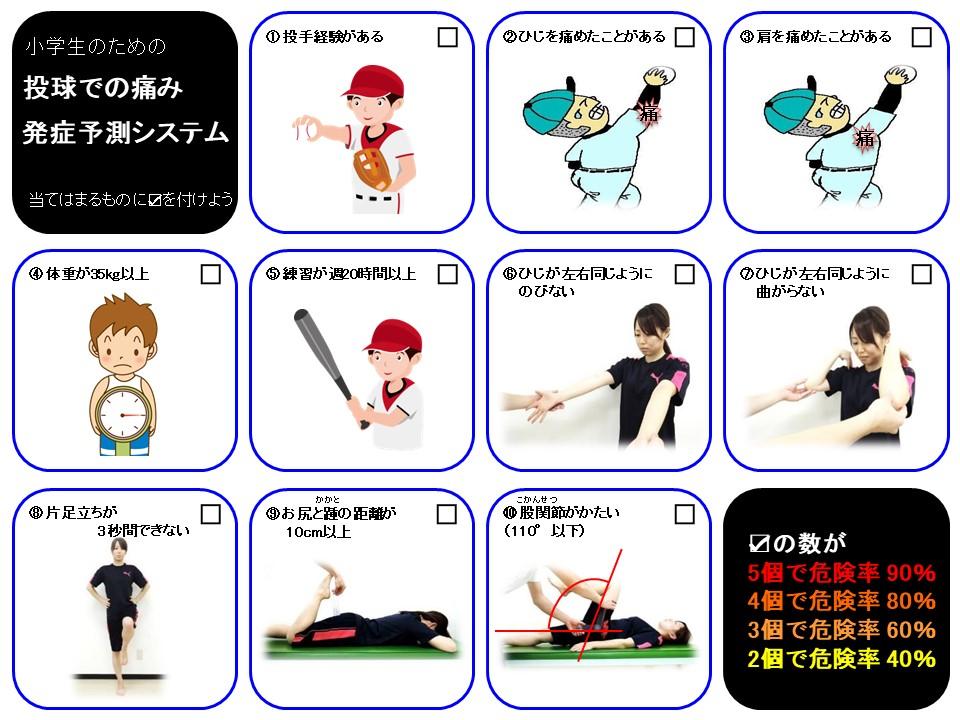 少年野球10項目