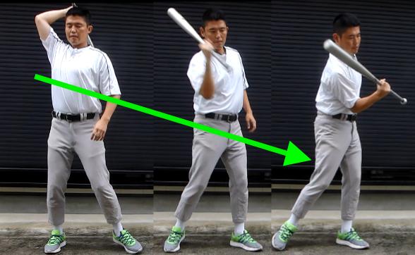 トップハンド 肘の動き